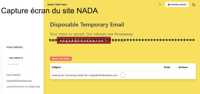 Comment créer mon adresse NADA Mail?