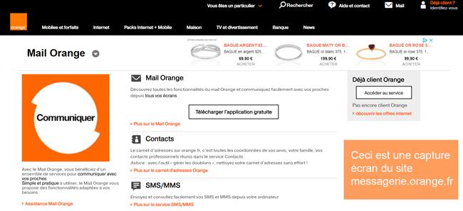 messagerie.orange.fr : le site pour contacter assistance orange