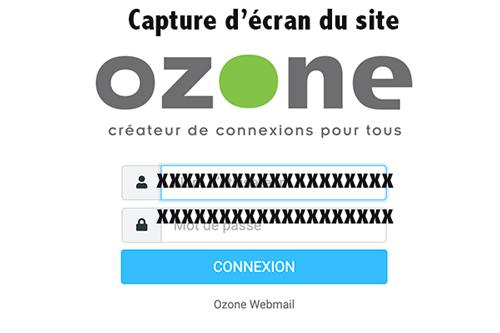 Se connecter à ozone portail webmail