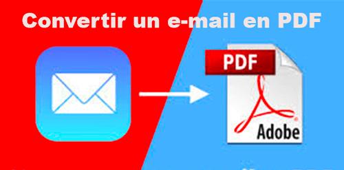 Convertir un email en pdf sur iphone et ipad