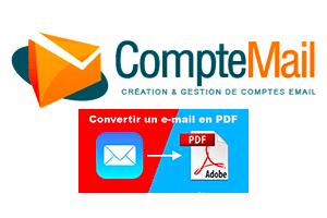 Transformer un email en pdf sur iphone ou ipad