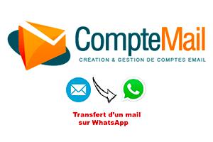 comment transférer un mail gmail vers whatsapp
