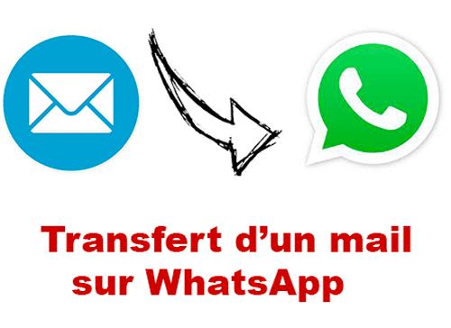 Transférer un mail sur WhatsApp