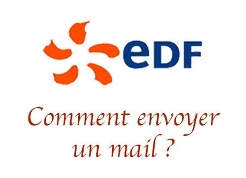 Comment envoyer un mail à edf