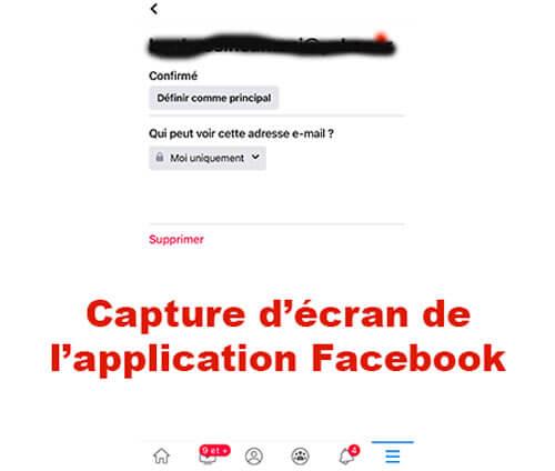 Supprimer email principal Facebook 2021